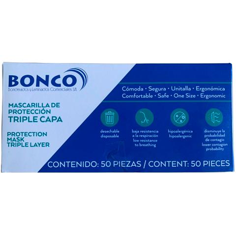 Mascarilla de protección Triple Capa - Caja x50 Image